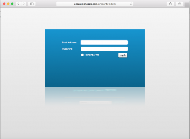 A fake login is presented by the link.