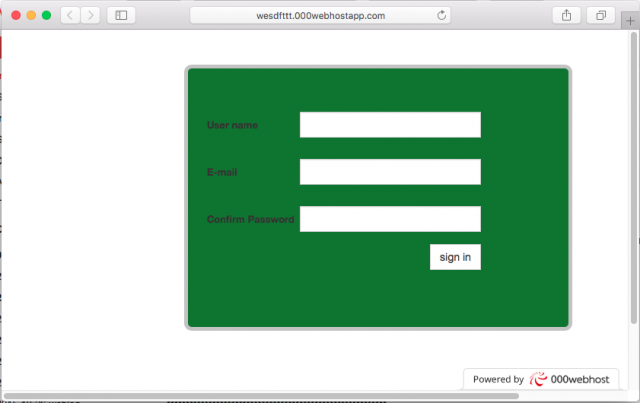 A fake login page is presented by the link.