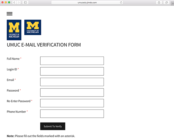umuc federal id number