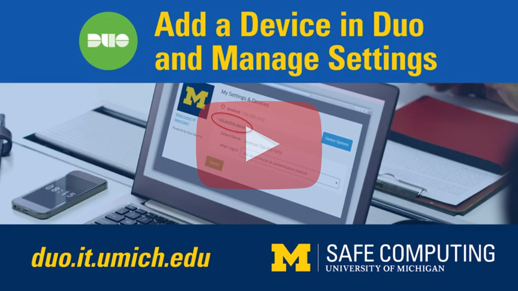 Add a Device in Duo and Manage Settings