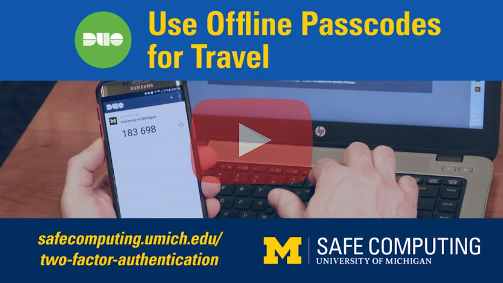 Use Offline Passcodes for Travel