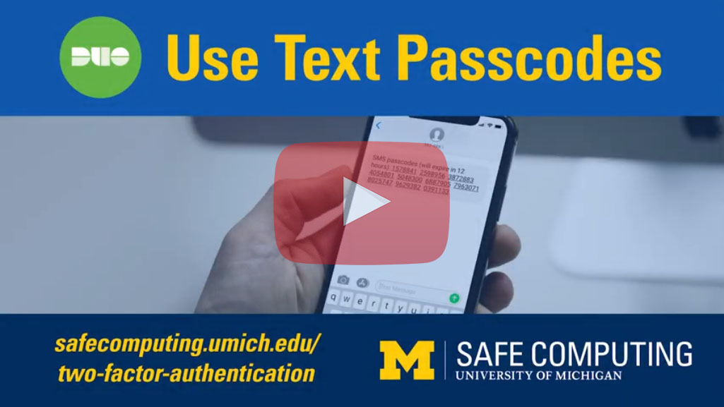Use Text Passcodes