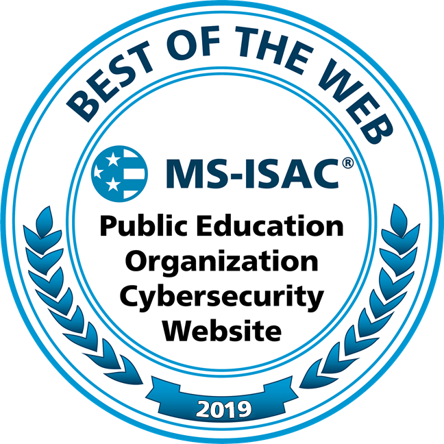 MS-ISAC Best of Web 2019 Education Award