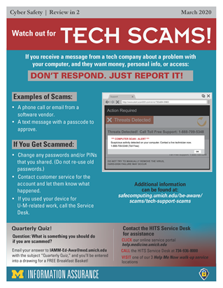 Watch Out for Tech Scams! Don't Respond. Just Report It!