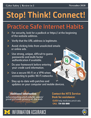 Practice Safe Internet Habits