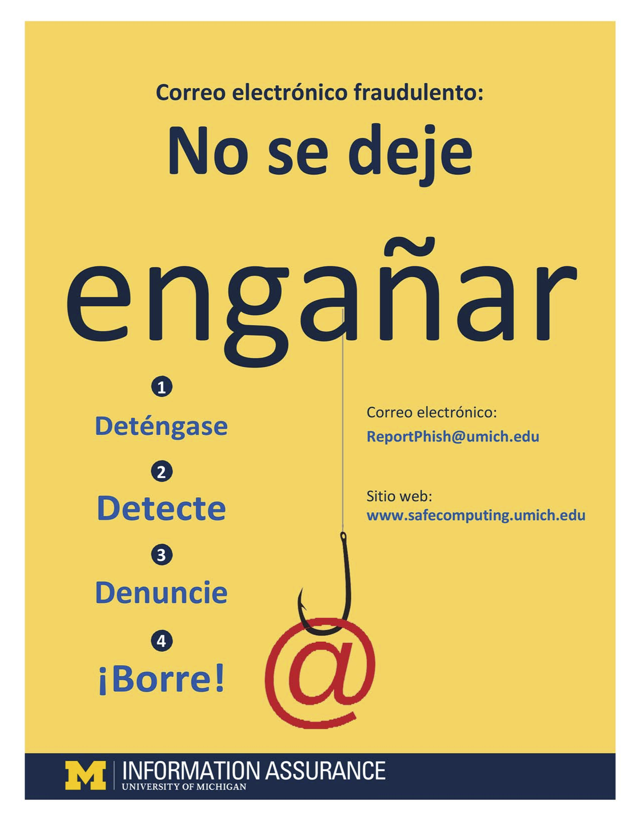 Image of the anti-phishing poster in Spanish.