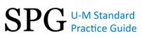 Banner image of SPG, U-M Standard Practice Guide