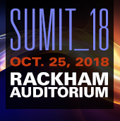 Logo of SUMIT_18 Oct. 25, 2018 Rackham Auditorium