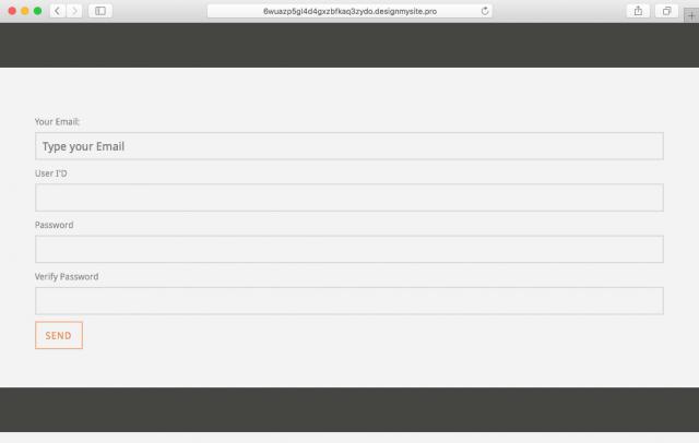Screenshot of fake login page