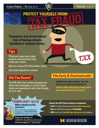 February 2019 poster Protect Yourself from Tax Fraud
