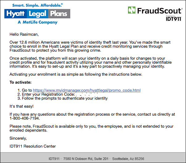 FraudScout message image