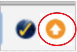 Orange arrow icon in Chrome.