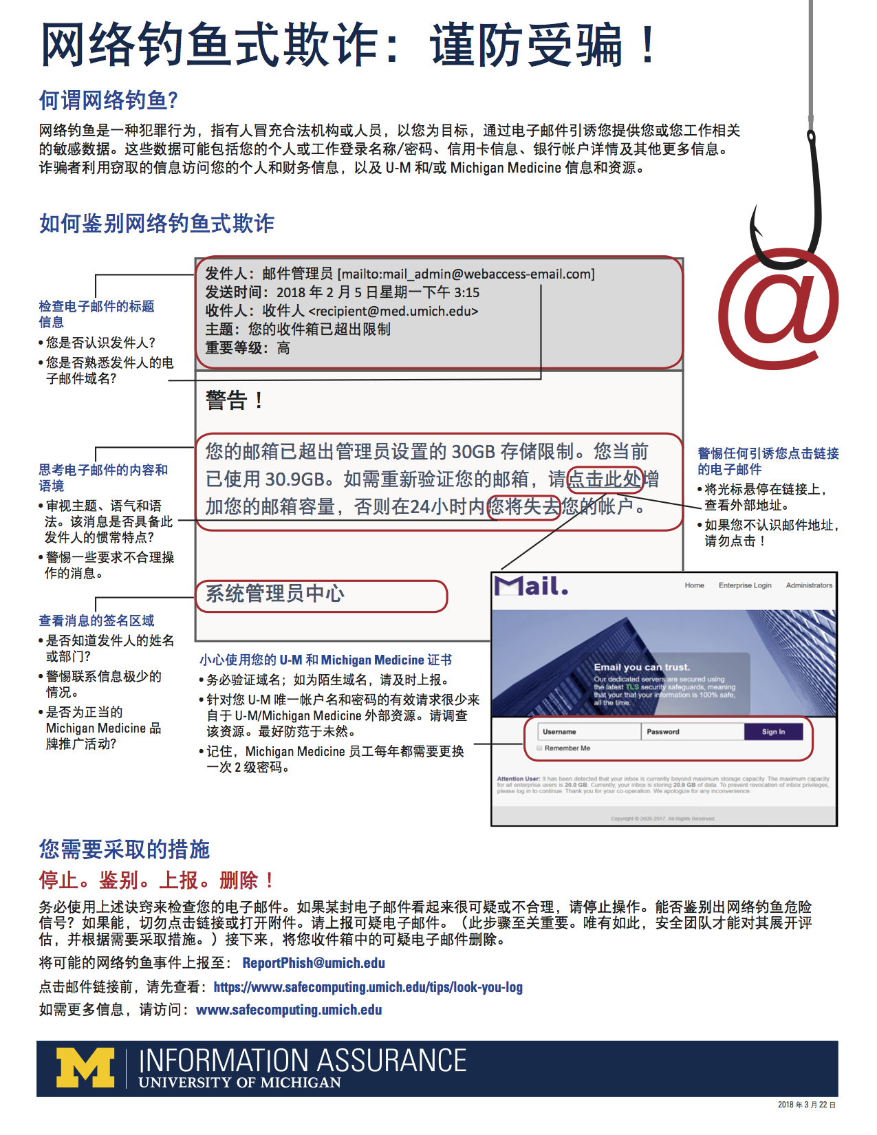 Anti-Phishing Posters and Tip Sheets in English, Mandarin, and